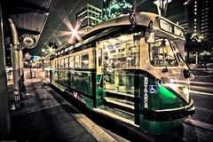 All Aboard (Justin Korn) Tags: sanfrancisco motion green movement fav50 myfav fav20 financialdistrict explore muni transportation fav30 ferryterminal lightstream fav10 explored fav40 lightroomhdr ferrybuildingplaza justinkorncomgallerycityscapes myfav2008