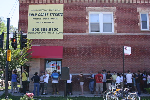 Friday Afternoon line outside of Hot Doug's