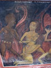A painting of hell at Rila Monestary (Kate B Dixon) Tags: bulgaria rila monestary