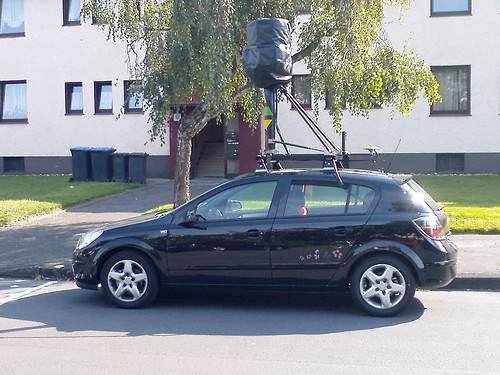 Google Streetview Auto in Langenfeld (Foto: jensminor)