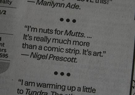 Nigel is nuts for Mutts