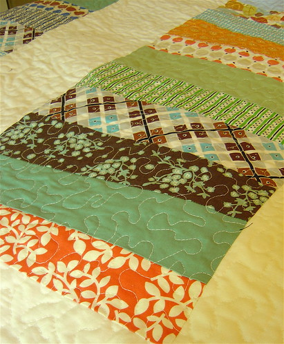 Quilting on Coin Quilt