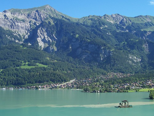 View of Brienz from the other side of the Brienzersee