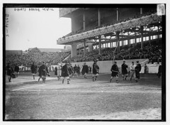 [New York Giants walk onto the field at the Polo Grounds [New York] prior to Game One of the 1912 World Series, October 8, 1912 (baseball)]  (LOC) (The Library of Congress) Tags: boston john al baseball redsox libraryofcongress nl manager mcgraw bostonredsox worldseries americanleague pologrounds nationalleague stadiumseating johnmcgraw newyorkgiants xmlns:dc=httppurlorgdcelements11 1912worldseries dc:identifier=httphdllocgovlocpnpggbain11855 newyorkbaseballgiants