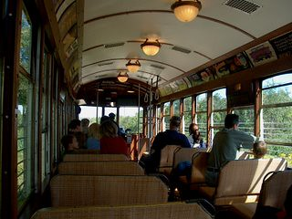 Interior view of a restored 1924 vintage Milwaukee City streetcar. The East troy Electric Railroad and Museum. East Troy Wisconsin. September 2006. by Eddie from Chicago