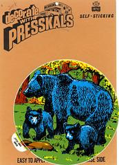 Impko Pressskals Bear Family (Neato Coolville) Tags: decal impko presskals