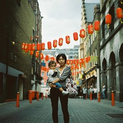 chinatown (bobby stokes) Tags: uk england london 120 film mediumformat japanese chinatown kodak squareformat analogue agfa portra nao kodakportra160vc naoko booboo agfaisolette urbanlife portra160vc londonist forgetitjake ibuki