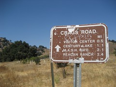 We rode up Crags Road. (09/14/2008)