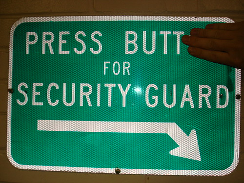 Push Butt for Security Guard