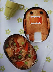 Silly Domo-kun inarizushi bento lunch