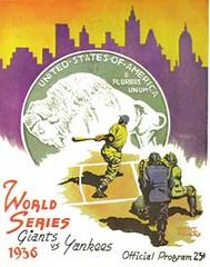 Grant Powers 1936 World Series Program