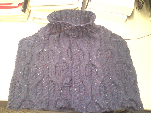 tahki tweed cable cape 2