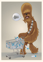 Chewbacca (:raeioul) Tags: hairy shopping star www wars cart chewbacca justiniano raeioul raeioucom