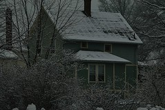 Albion House in the snow (ledges) Tags: williamscollege williamsmysticfall2008 bygregalbright