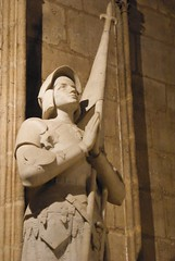 joan of arc at the Notre-Dame de Paris