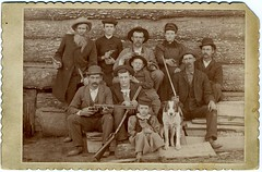 2008 Top One Hundred Countdown # 2: Cabinet Card---Family Group Portrait (Hombres Problematicos Numero Veintiuno) [Moved-Up So Flickrites Can Give It More Love] (mrwaterslide) Tags: old dog cat vintage pose beard fun bowie crazy log cabin cabinet antique threatening knife hats posed cigar moustache logcabin card virtual pistol oldphoto vernacular guns knives scraps goof poison granny clan stogie eunuch violent ornery defenestrate sundaydinner decapitate vitalis chink vitales victuals boardinghouse spinster castrate vitals discombobulate chinking downthewell disembowel clannish