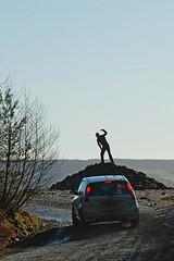 Thomas Cave - Wales Rally GB 08 (Jamie Blandford) Tags: world blue shadow sky ford silhouette st price wales d50 lights championship nikon fiesta thomas rally monk gemma gb cave brake nikkor 70210 rheola f456