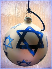 Jewish Christmas Tree Ornament (blind_donkey) Tags: tree glass ball decoration krakow polish ornament jewish glassball christamas magendavid top20jewish