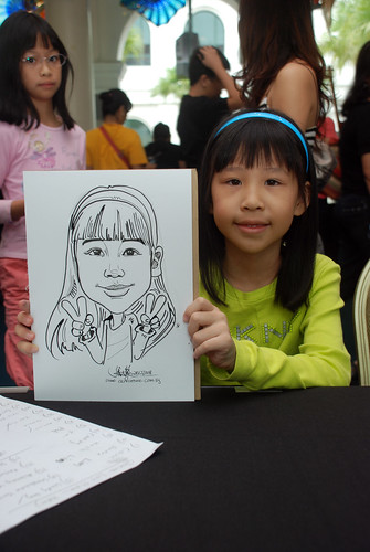 Caricature live sketching at Singapore Art Museum Christmas Open House - 15