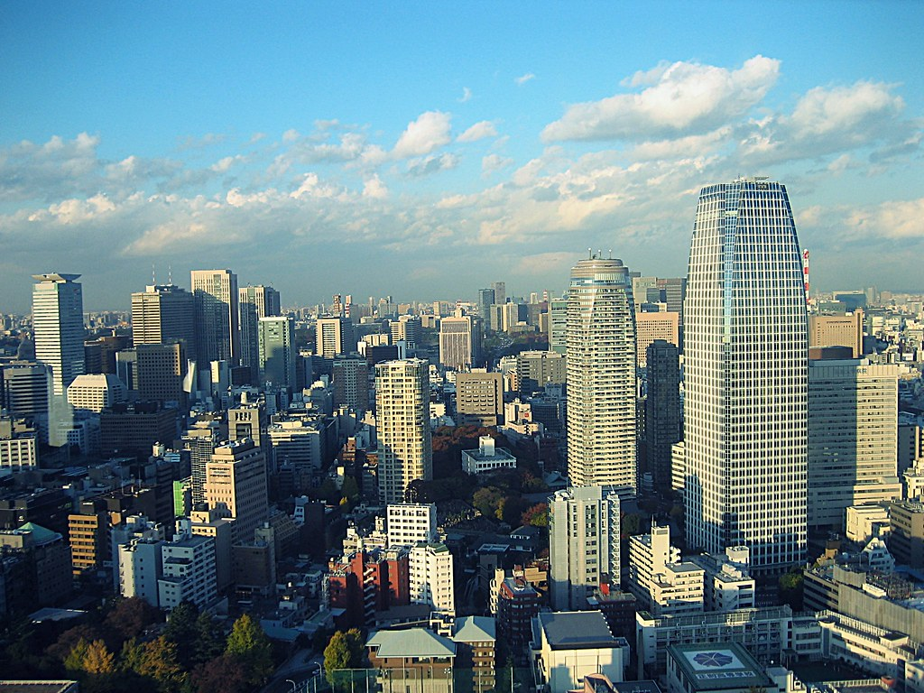 View of Tokyo from the observatory of Tokyo Tower