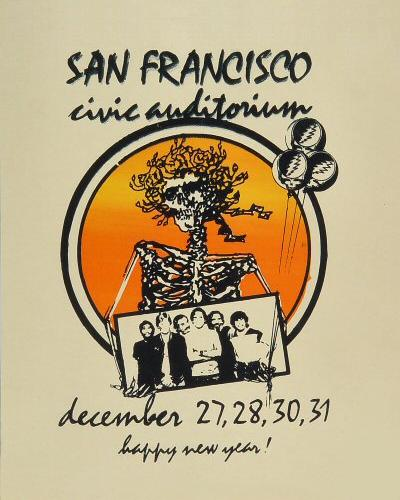 Grateful Dead handbill - 12/30/83 San Francisco Civic Auditorium [from www.deadlists.com]