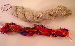 Dyed cotton skeins