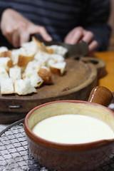 正月二日目夕食(チーズフォンデュ)