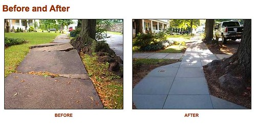 Rubbersidewalks - Before and After