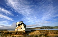 Point Reyes (!STORAX) Tags: california sky abandoned clouds coast boat rust decay pointreyes seashore