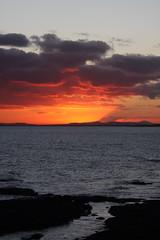 East Lomond erupts? (Ron Dough) Tags: sunset sea canon scotland fife angus arbroath 40d eos40d