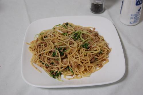 水菜の和風スパゲティ