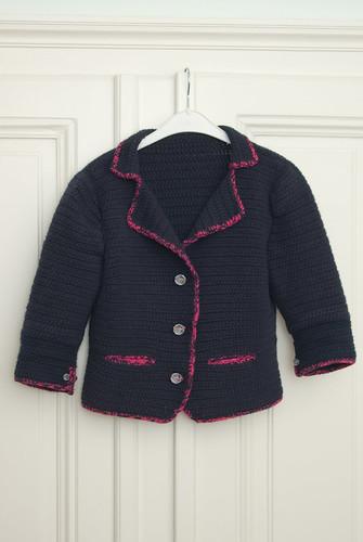 navy & pink blazer