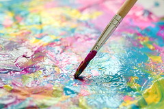In the Artist Studio (what_marty_sees) Tags: light abstract color art texture creativity paint hobbylobby january create crafting 2010 owp shuttersisters pfogold projectchallengegroup highcallingfocus september29thoctober5th