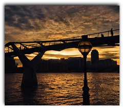 Tate crossing. (Wizard Snaps) Tags: uk bridge england sky sun sexy london water beautiful thames clouds digital canon river eos tate creative breathtaking smrgsbord milenniumbridge sigma1020 flickrsbest 400d canoneos400d flickrlovers breathtakinggoldaward