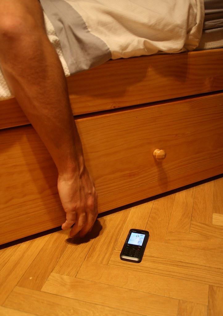 El móvil bien cerca. Foto en flickr de Freddy the boy