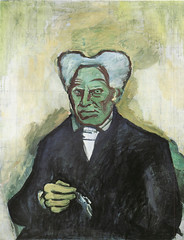 Kubista 1908 Schopenhauer (calypsospots) Tags: portrait art painting czech expressionism oilpainting czechoslovakia kubista kubišta