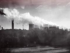Central Nuclear desde el tren