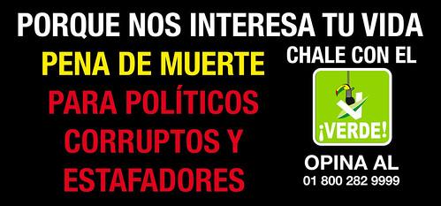 Pena de muerte para políticos corruptos y estafadores por Juanito Topo.