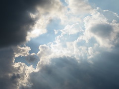 Clouds (FrodoBabbs) Tags: light sun clouds creativecommons rays puffy