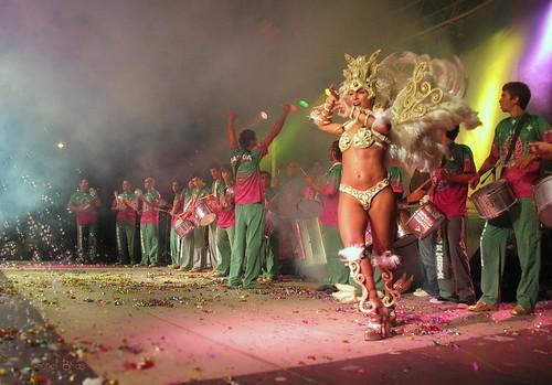 Samba Dancers and drummers at Samba Festival