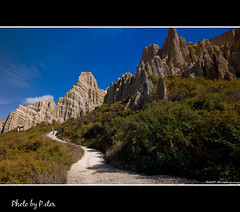 Clay Cliffs entry (pDOTeter) Tags: newzealand landscape peter otago filters claycliffs omarama nikond90 concordians singhraygoldnblue highpasssharpened