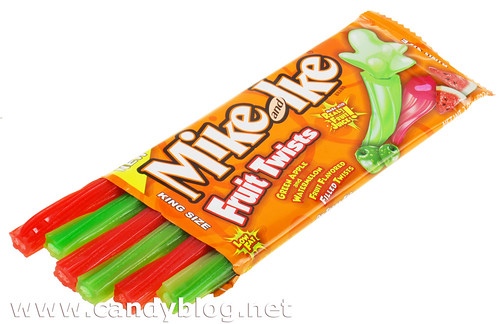 Mike and Ike Fruit Twists - Green Apple & Watermelon