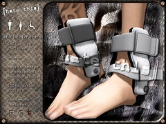 [ht+] ankle braces (Corvus Szpiegel) Tags: broken this pain hurt braces accident wheelchair leg injury medical hate torn crutches ankle fracture unisex brace sprain injured roleplay ligament ligaments hatethis