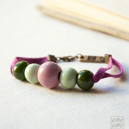 Bracelet Ceramic Beads (pink)
