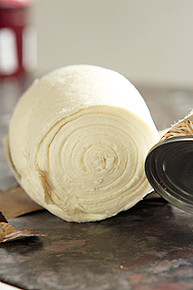 unrolling croissant dough