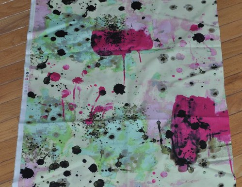 paint splatter Jay McCarroll fabric