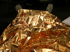 A space blanket for hyper naps