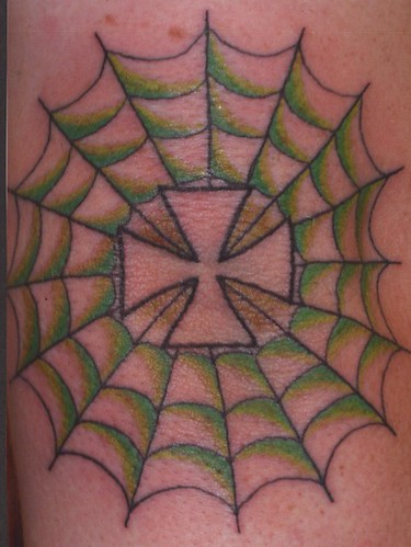 Spider Web Tattoo Elbow