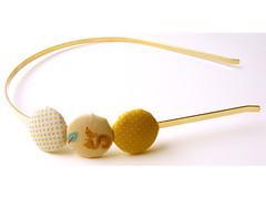 Yellow Buttons Headband