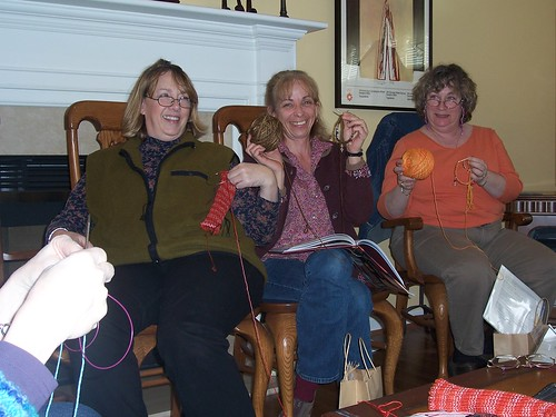 More knitting with Sheila's yarn